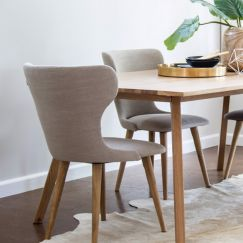 Augusta Dining Chair | Natural Coloured Seat by SATARA