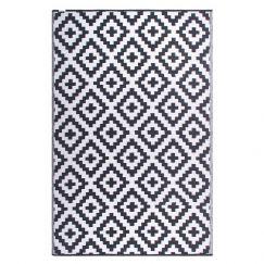 Aztec Grey Recycled Plastic Mat | Fab Habitat