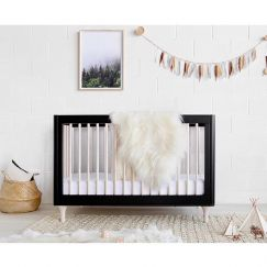 Babyletto   Lolly Cot   Black & Washed Natural