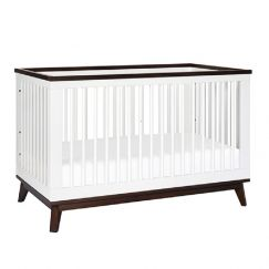 Babyletto   Scoot 3 in 1 Cot   White/Walnut