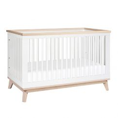 Babyletto   Scoot 3 in 1 Cot   White/Washed Natural