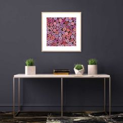 Bachelor Buttons I | Framed Art Print