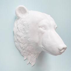 Bailey The Bear Head | White