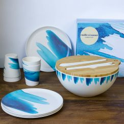 Bamboo Tableware Gift Set   Blue Wave