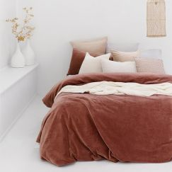 Bambury Emerson Velvet Quilt Cover Set | Cayenne