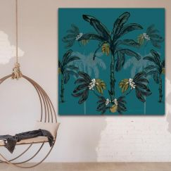 Banana Bungalow | Canvas Print by Libby Watkins