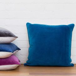 Basic Large Velvet Cushion Cover | Teal