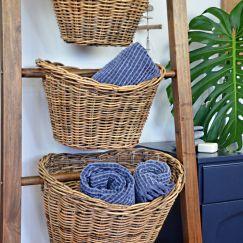 Basket Ladder with Teak frame