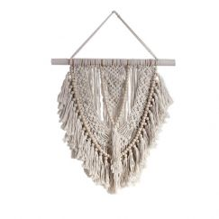 Beaded Macrame Wall Hanging   by Raw Decor