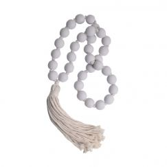 Beaded Tassel | White | BY SEA TRIBE