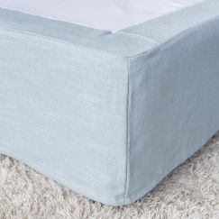 Bed Valance | French Blue | Queen or King Size