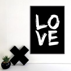 Big Love | A3 Poster | Copper or B/W