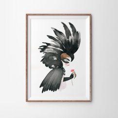 Black Cockatoo Art Print   Various Sizes