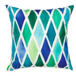 Blue Diamond Outdoor Cushion | 45x45 cm | Insert Included | Fab Habitat