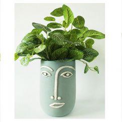 Blue Face Vase