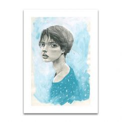 Blue Girl 1 | Limited Edition Unframed Print | by Steve Cross