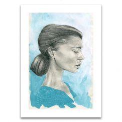 Blue Girl 3 | Limited Edition Unframed Print | by Steve Cross
