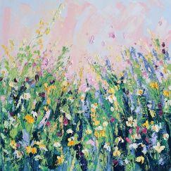 Bluethumb Original | A Cottage Garden 4 - Wild Flower by Angela Hawkey | Oil Painting
