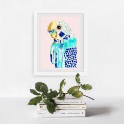 Bluey in Blush | Art Print by Grotti Lotti