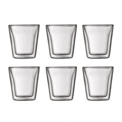 Bodum Canteen | 6 pcs Glass | Small 0.1 l, 3 oz