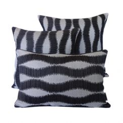 Bora Bora Black | Sunbrella Fade and Water Resistant Outdoor Cushion