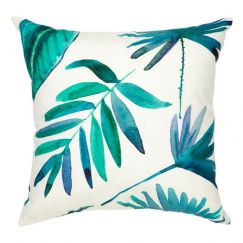Botanica Blue Outdoor Cushion | 45x45 cm | Insert Included | Fab Habitat