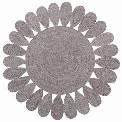 Braided Decorative Flower Weave Rug