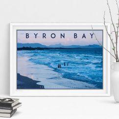 Byron Bay Beach | Art Poster | Unframed and Framed