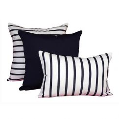 Capri Navy | Sunbrella Fade and Water Resistant Outdoor Cushion