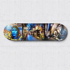 Centre Place | Skateboard Deck Wall Art | Street Art Photography | Blue Herring