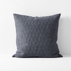 Chambray Quilted European Pillowcase | Greystone by Aura Home
