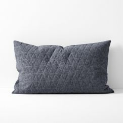 Chambray Quilted Standard Pillowcase | Greystone by Aura Home
