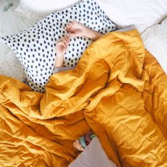 Chambray | Reversible Quilted Coverlet | More Than Ever