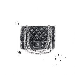 Chanel Bag Greeting Card