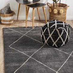 Charcoal Broadway | Dense Pile Rug