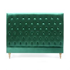 Charlotte Chesterfield Bedhead | Queen | Emerald | by Black Mango