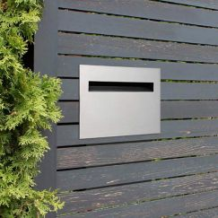 Chelsea Stainless A4 Fence Letterbox