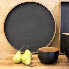 Circ Black Timber Plate by SATARA