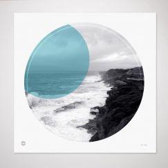 Clovelly Coastal Walk | Circle Print by Burbia
