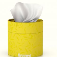 Coloured Tissue Tub with facial tissues | Yellow