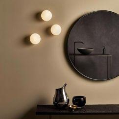 Contemporary Luminous Orb Wall Light