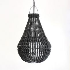 Contrast Beaded Chandeliers | Black | by Raw Decor