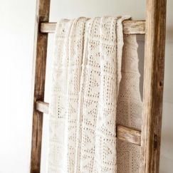 Crochet Knit Blanket | Sand