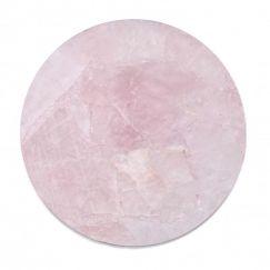 Crystal Circle Tray | Rose Quartz