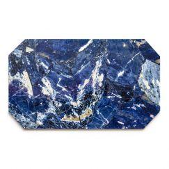 Crystal Rectangle Tray   Sodalite