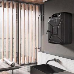 Danish Fuel Bathroom Cabinet   Nano Black