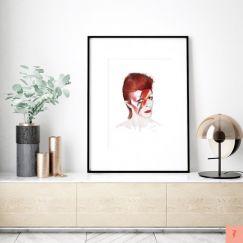 David Bowie | Aladdin Sane by ANDLIZZY | Unframed Print