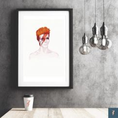 David Bowie | Ziggy Stardust by ANDLIZZY | Unframed Print
