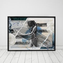 Dawn Patrol | Mixed Media Line Art Print | Framed or Unframed