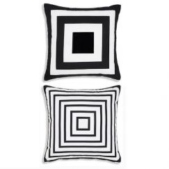 Deco Indoor |Outdoor Black & White Cushion Cover